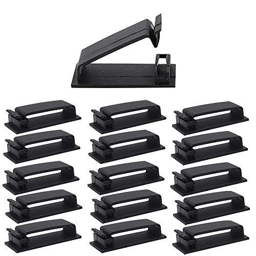 Organizador de Cables, Clips para Cable Adhesivos,50 Piezas Soporte del Cable Organizador...