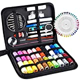 Sewing Kit,AUERVO Small Sewing Kit 113 Piece Sewing Accessories with Zipper Case, for Home,Travel,Emergency,Adults and Beginners,with Mending,Scissors,Needles and Thread Kits Tape Measure etc