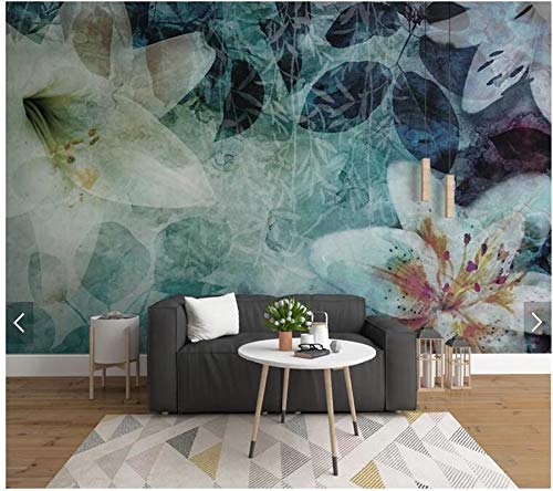 XZCWWH Custom 3D Wallpaper Mural European Abstract Leaves Flowers Used For Living Room Bedroom Sofa Tv Background Wall,350Cm(W)×256Cm(H)