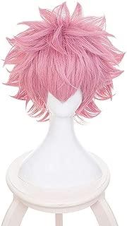 Bowinr Cosplay Wig for My Hero Academia, All Might, Izuku Midoriya, Todoroki Shoto, Katsuki Bakugou, Synthetic Hair Wigs for Anime-Fans(Mina Ashido)