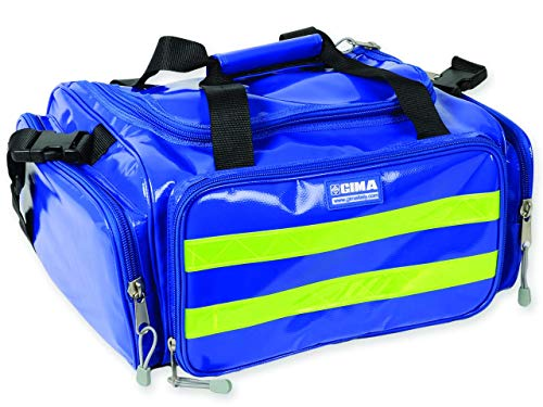 GIMA - Emergency Bag, Blaue Farbe, Polyester, PVC-beschichtet, Notfall, Trauma, Rettungsdienst, ärztliche, Erste Hilfe, Krankenpfleger, Mehrtaschenbeutel für Sanitäter, 35x45x21 cm