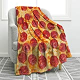 """Jekeno Pizza Print Throw Blanket Soft Warm Blanket for Couch Sofa Bed 50""""x60"""""""