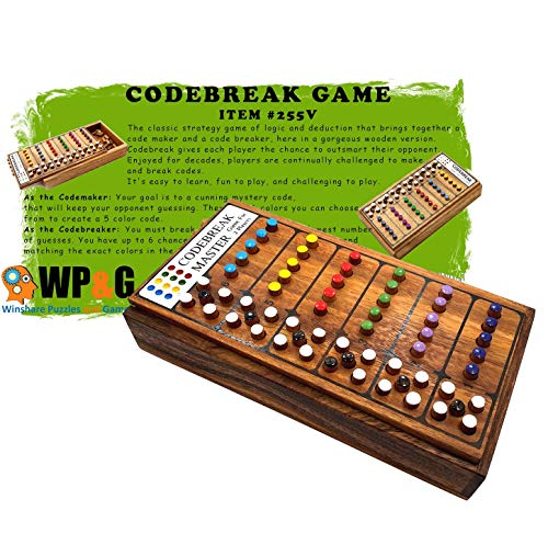 Codebreak Game Top Strategy Wooden Board Games for Kids and Adults