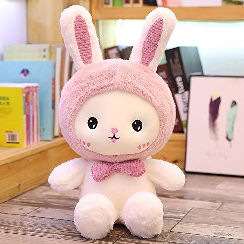 MEKTSA Nuevo Huggable 25-60cm Super Kawaii Rabbit Peluches Lindo Tiburón Oso Relleno Acompañamiento Almohada Niños Regalo de cumpleaños Muñecas 50cm C