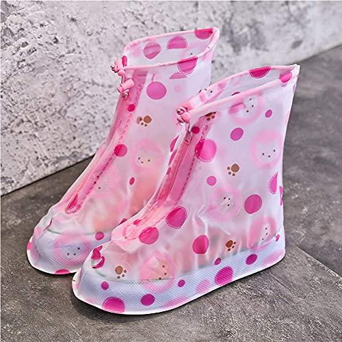 Worth having - Regenschuhabdeckungen für Jungen GILS Wasserdichte Leichte Stiefel mit rutschfesten Sohle - Überschuhe wiederverwendbar für Outdoor-Sportfahrrad Fahrrad ( Color : B , Size : 27~28EU )