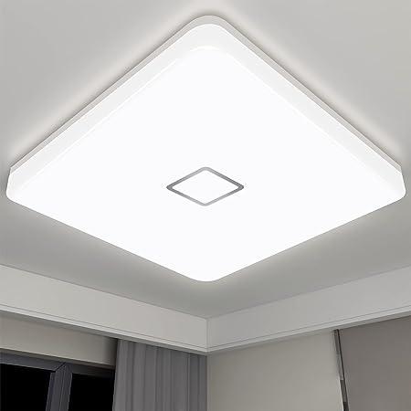 Plafonnier LED 18W Öuesen Plafonnier Salle de Bains Luminaire Lampe de Plafond 1800LM, Étanche IP44 Luminaire LED pour Salle de Bains Cuisine Balcon Couloir Bureau (Blanc Neutre)