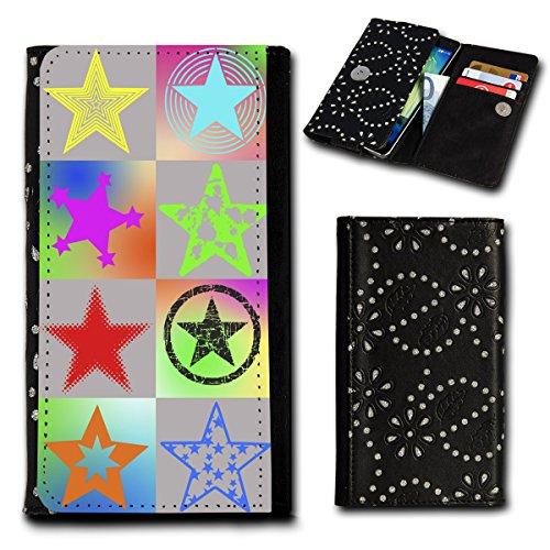 Strass Book Style Flip Handy Tasche Case Schutz Hülle Foto Schale Motiv Etui für Alcatel OneTouch pop star 5022D - Flip SU5 Design8