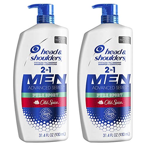 Head and Shoulders Shampoo and Conditioner 2 in 1 Anti Dandruff Treatment and Scalp Care Old Spice Pure Sport  314 Fl Oz Twin Pack