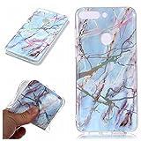 MHHQ Custodia Huawei P20, Bling Laser Colorato Marble Case Silicone Copertura Case Protett...