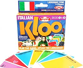 KLOO's Learn to Speak Italian Language Card Games - Places & Travel - Pack 2 (Double Deck)