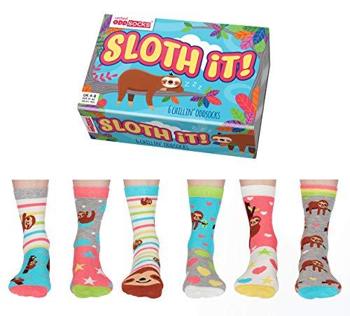 Sloth It Faultier Oddsocks Socken in 37-42 im 6er Set - Strumpf