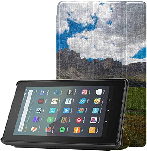 Funda Kindle Fire Case 2019 The Beautiful Alps At Sunset Fundas Tablet Fire 7 para Tableta Fire 7 (novena generación, versión 2019) Ligera con Reposo automático/activación