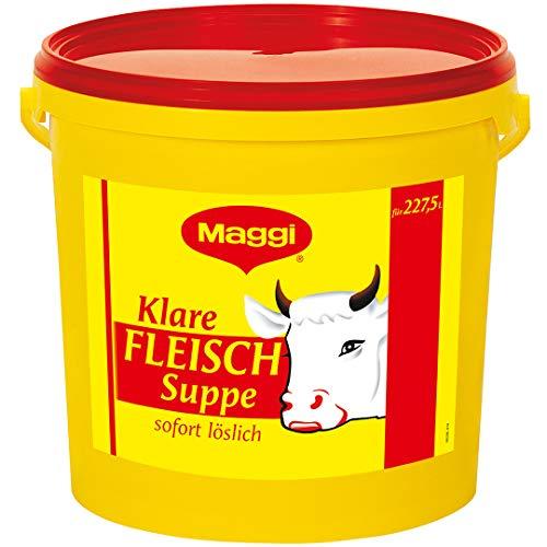 Maggi Klare Fleischsuppe aus Fleischextrakt mit Kräutereinlage & fein gehacktem Gemüse, Sofort löslich, 1er Pack (1 x 5 kg Eimer)