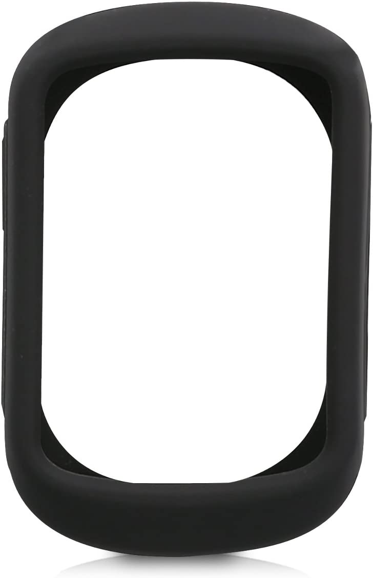 Black kwmobile Case Compatible with Garmin Edge 130//130 Plus Soft Silicone Bike GPS Navigation System Protective Cover
