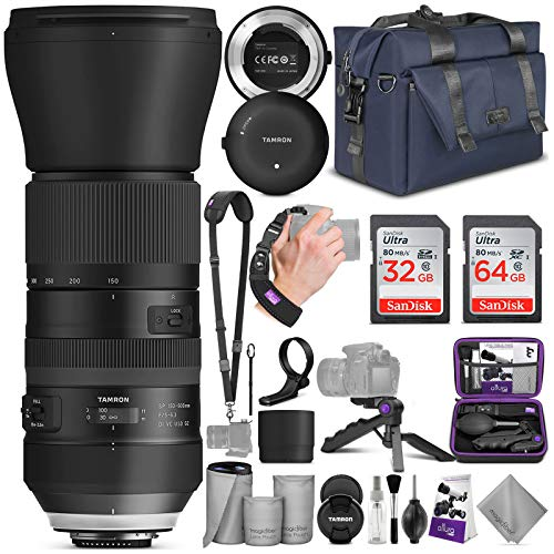 Tamron SP 150-600mm F/5-6.3 Di VC USD G2 Lens for Nikon DSLR Cameras + Tap-in Console with Altura Photo Complete Accessory and Travel Bundle