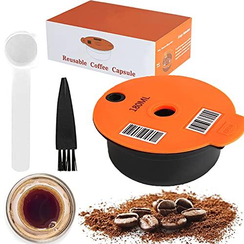 Kapsułki do kawy wielokrotnego użytku, kompatybilne z ekspresami Bosch Tassimo, filtr do wielokrotnego napełniania, pady do kawy z kodem kreskowym (60 ml)