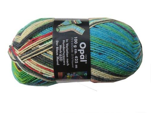 Opal Sockenwolle nach Hundertwasser Der blaue Mond