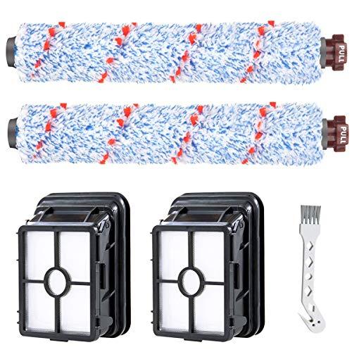 Recambio accesorios, 2 rodillos multisuperficie + 2 filtros para BISSELL Crosswave 17132 y 2225N Series