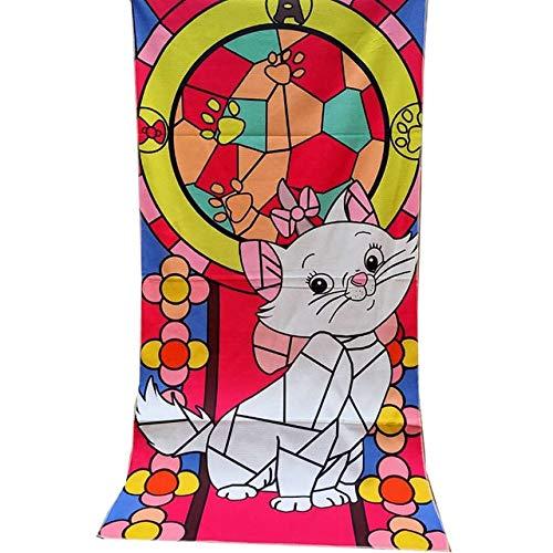 Xiaobing Toalla de baño Toalla de Playa de impresión reactiva de algodón de Dibujos Animados para niños Toalla Diaria -13-70x140cm