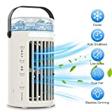 Personal Air Cooler, WELTEAYO Portable Water-cooled Air Conditioner Fan, Evaporative Cooler With 3