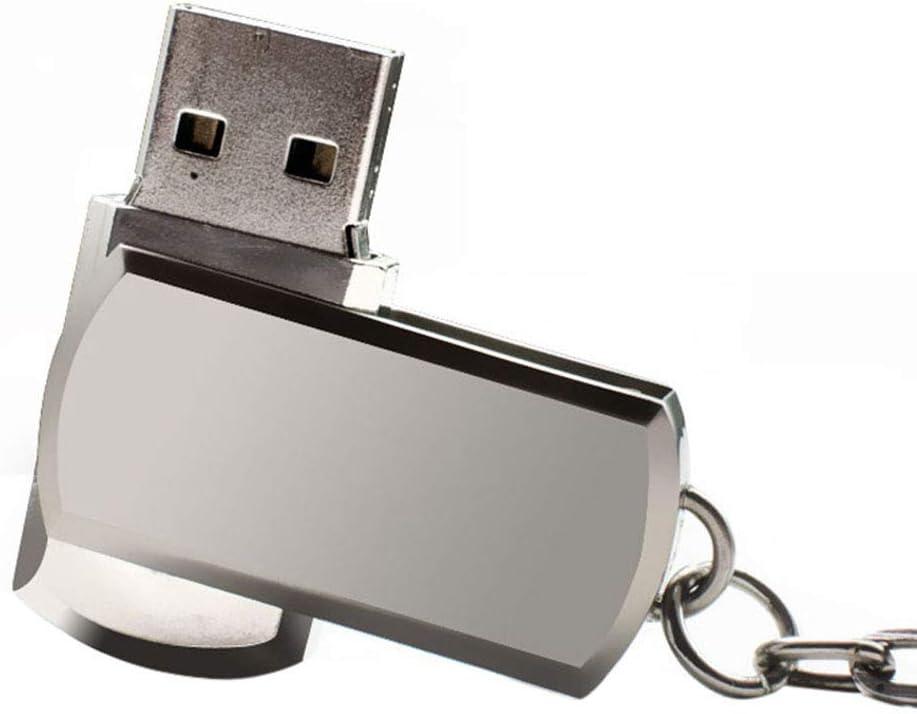 schicj133mm Metal Rotating Waterproof USB 3.0 4//8//16//32//64GB USB Flash Drive Pen//U Disk////USB Memory Stick//Data Storage Memory Stick Silver 16GB