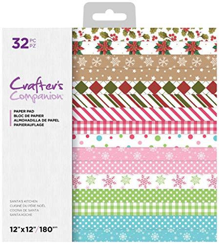 Crafters Companion CC-PAD12-SANKIT Crafter's Companion 30,5 x 30,5 cm Weihnachtsmann-Küchenblock, multi