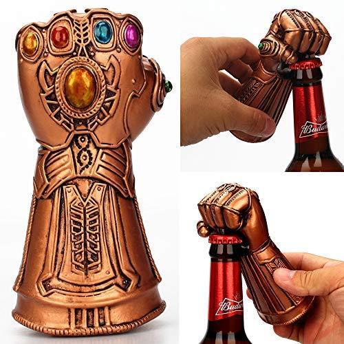 Thanos - Kit di rimozione per guanti, apribottiglie per bottiglie di birra, ideale per bar, feste, amanti della birra, ottimo regalo di compleanno per i fan della Marvel
