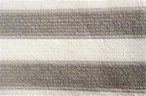 Easy Gardening AGROFLOR Balkonblende, Sichtschutz, Windschutz, inkl. Kabelbinder, Größen (0,75 x 5 m, grau/Weiss)