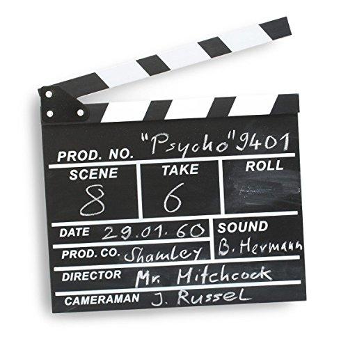 GOODS+GADGETS Filmklappe Regisseurklappe XXL - Hollywood Deko Regie Film Klappe Kreidetafel Requisite