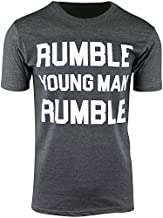 Rumble Young Man Rumble Mens Shirt Float Like a Butterfly (Charcoal Heather, 2XL)