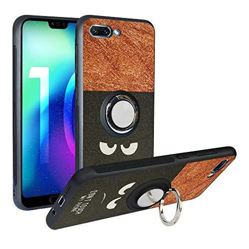 Alapmk Cover per Huawei Honor 10, [Pattern Design] con Regolabile 360 Magnetica per Auto, Morbido TPU Protettiva Resistente Ai Graffi Case Cover per Huawei Honor 10,Do Not Touch