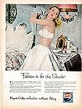 1953 Pepsi Cola Girl in Bra-Fashions For The Slender-Original 13.5 * 10.5 Magazine Ad
