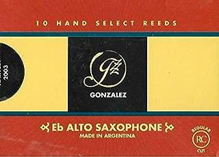 Gonzalez Eb Alto Saxophone Reeds Strength 1.75, Box of 10