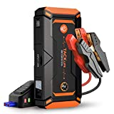 TACKLIFE T8 Pro 800A Peak 18000mAh Water-Resistant Car Jump Starter (up to 7.0L Gas, 5.5L Diesel Engine) with LCD Screen, USB Quick Charge, 12V Auto Battery Booster, Portable Power Pack