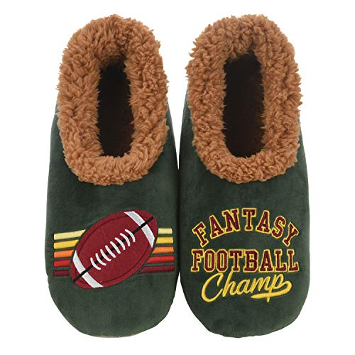 Snoozies Mens Pairables - Mens Slippers - House Slippers for Men - Fantasy Football - Large