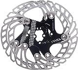 YBEKI Disco de Freno Bicicleta 140mm 160mm 180mm 203mm Rotores para Bicicletas con 12 Pernos para Picicleta de Carretera Bicicleta de Montaña Bicicleta Flotante Disco de Freno (negro, 160mm)