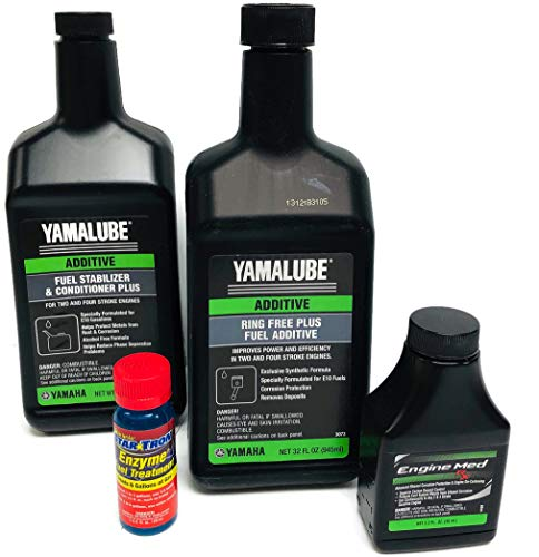YAMAHA Yamalube Boat & Outboard Fuel Treatment Combo Kit - 1 - ACC-RNGFR-PL-32 Ring Free Plus Fuel Additive 32oz & 1- ACC-FSTAB-PL-32 Fuel Stabilizer Plus, 3.2oz Engine Med RX, Star-Tron 1oz. Kit