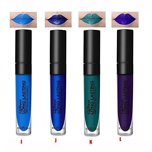 12 Colores Profesional Mate Pintalabios Maquillaje
