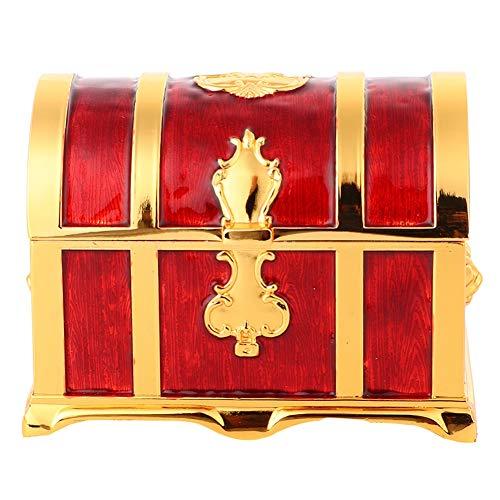 OIHODFHB Caja de almacenamiento para joyas, diseño retro rojo