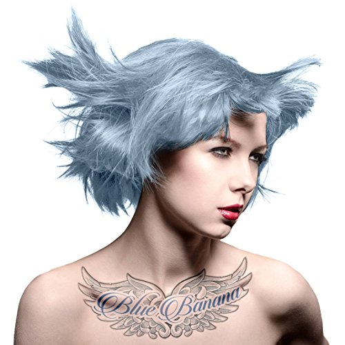 2 x Manic Panic High Voltage Classic Cream Formula Hair Color Blue Steel 118ml by Manic Panic