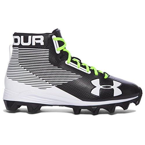 Under Armour Hammer Mid RM Junior Football Cleats (6 M US Big Kid) Black/White