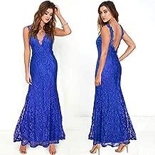 فستان مخرم ازرق كاجوال -نساء