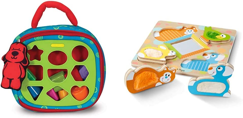 Melissa Doug Take-Along Shape Sorter Special price New popularity Touch First Feel Play