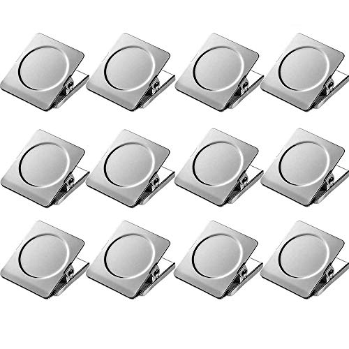 Thimmamma Strong Magnet Clips - 12 Packs Heavy Duty Metal Magnetic Clips for Refrigerator, Magnetic Clips for Whiteboard, Picture, Office Magnets, Magnet Clipboard for White Boards