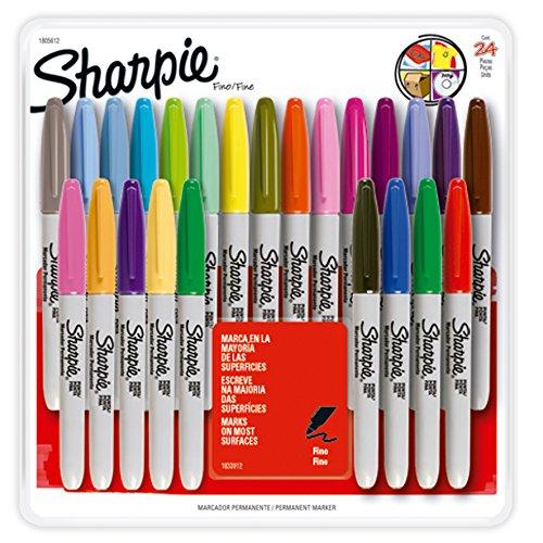 Marcadores Permanente Sharpie Fino Sortidas, Blister Com 8 Un, Sharpie, 1812776, Sortidas