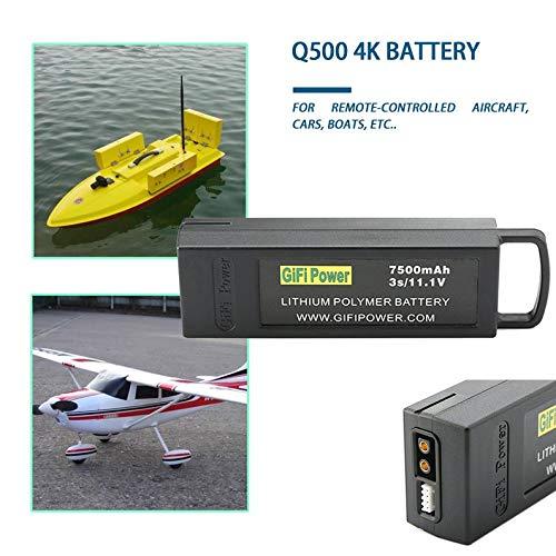 deYukiko 7500mAh 11.1V 3S Flight Lipo Battery for Yuneec Q500 4K for Typhoon RC Drone
