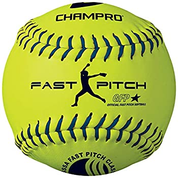 Champro Synthetic USSSA Fast Pitch Ball Optic Yellow 12-Inch  Pack of 12