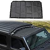 JeCar JL Sunshade Mesh Bikini Top Roof Sun Shade Exterior Accessories for 2018-2021 Jeep Wrangler JL JLU & 2020 Jeep Gladiator JT, Black