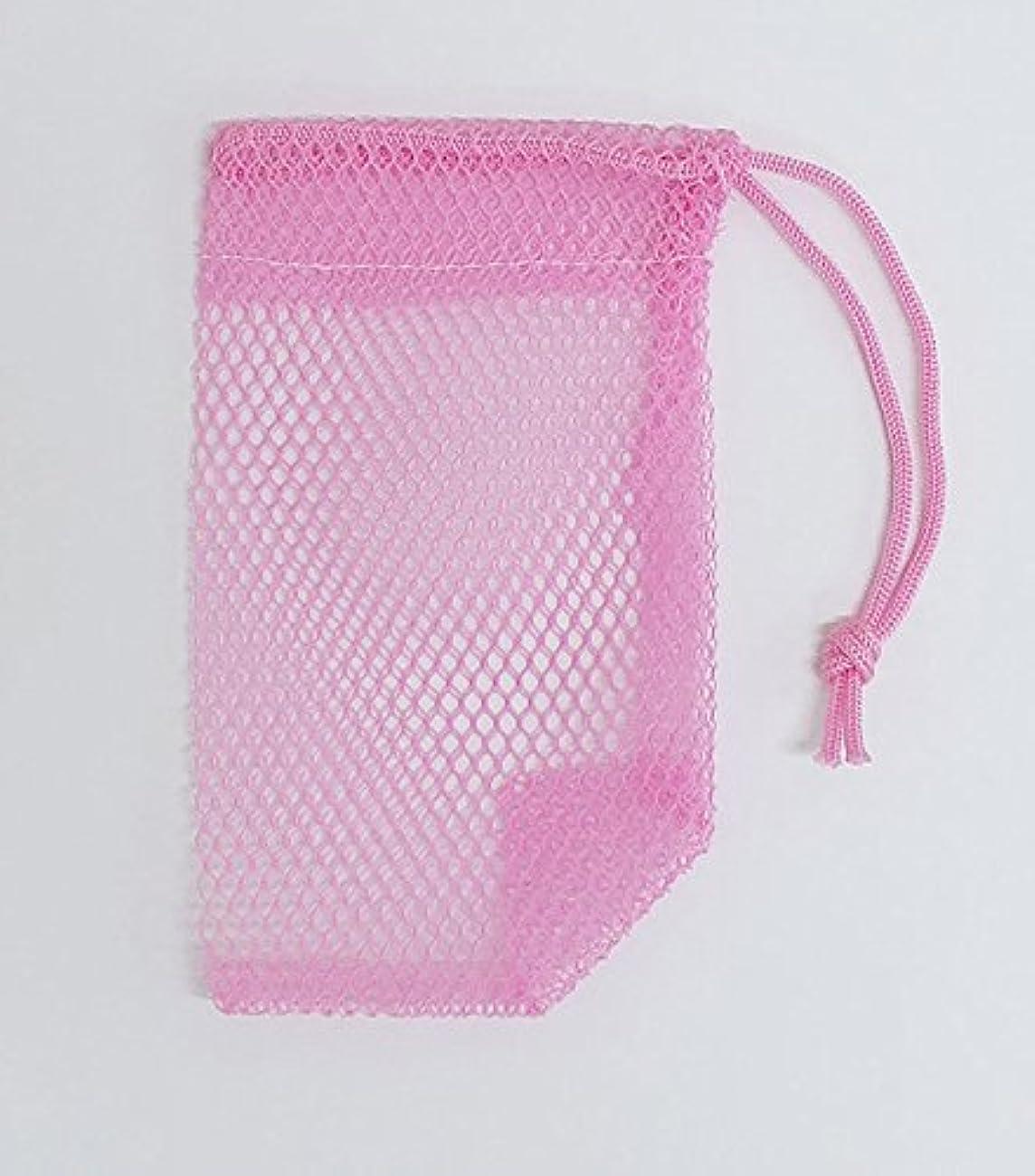微視的誤解おしゃれじゃない石けんネット ひもタイプ 20枚組  ピンク