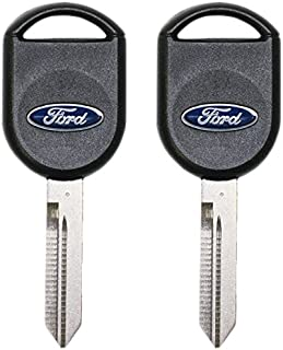 5918997 - 2 Pack - FORD OEM TRANSPONDER CHIP IGNITION MASTER KEY Ford Logo 82 GRV IPATS RFID - Jewel